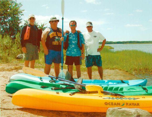 Kayaking in Rhode Island near Point Judith